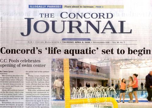 Concord's Swim Center Opens