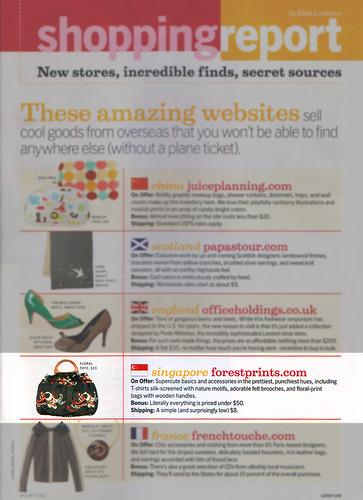 forestprints.com lucky magazine blurb