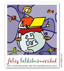 postal de Navidad de la coleccion loldibus.com de fernandezcoca.com