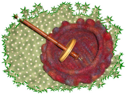 pretty spindle and felted bowl