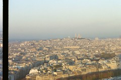 a glimpse of Paris from top of the Eiffel Tower