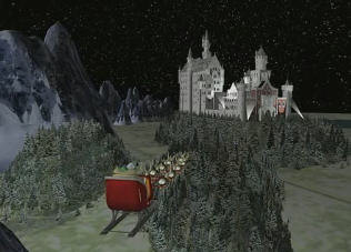 Santa visits Dinorider's Castle