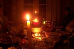 Christmas Dinner Candles
