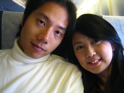 on the plane back to osaka