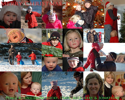 20051225 - Christmas card collage