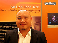 Mr Goh Boon Teck, winner in the Arts & Culture category