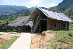 Red Dao House in Ta Phin Village