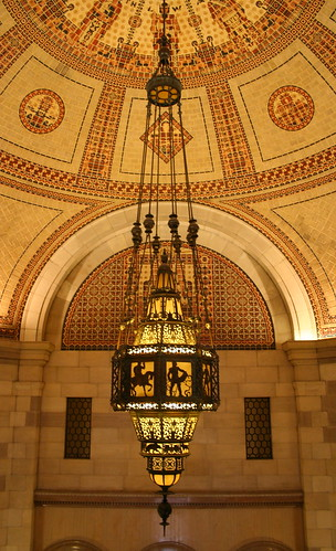 chandelier in the rotunda