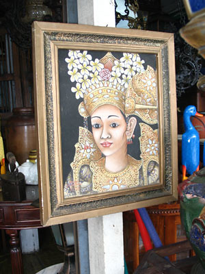 Old Balinese dancer painting