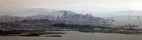 Vue panoramique de San Francisco après le décollage