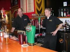 Marshy's with Brad Marsh (left) and bartender John.