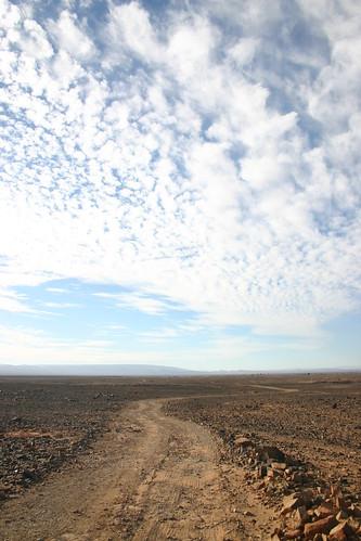 Tough 75km drive through the stony desert between Tazzarine and Zagora.