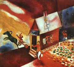 CHAGALL The Flying Carriage