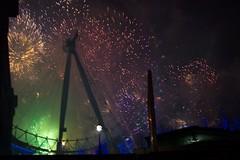 Fireworks off the London Eye