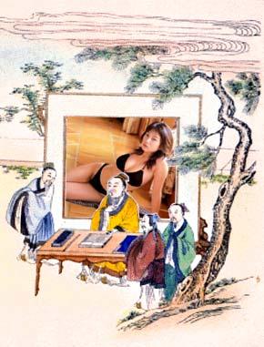图片由John Pasden(c)2003创建。资料来源:confucius.org,一些日本比基尼网站。