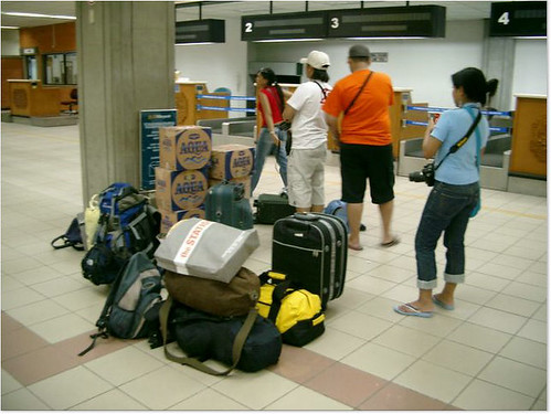 Airport.. Umm those are all of our luggage