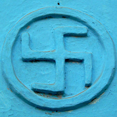 Turquoise Swastika