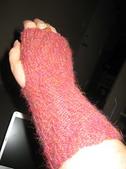 Alpaca wrist warmer, finished!