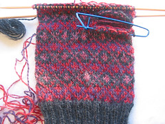 Fair Isle Mittens - in progress