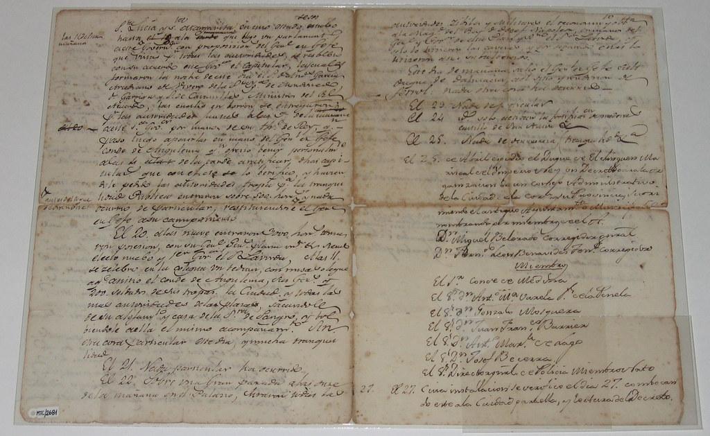 Manuscrito, testigo Batalla de Elviña
