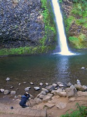 Photographing Horsetail Falls, Columbia Gorge