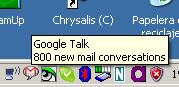 800 emails pendientes en Gmail