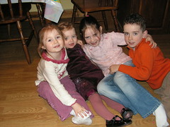 Hugsies with the cousins 2