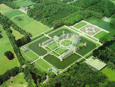 Schloss Nordkirchen aerial shot