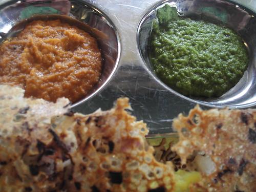 Saravan Bhavan Onion Rava Masala Dosa