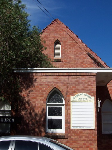 Front of the wee brick church