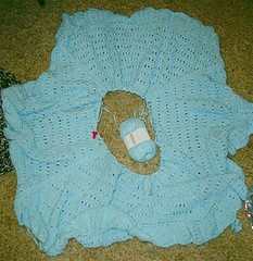 Baby blanket almost done