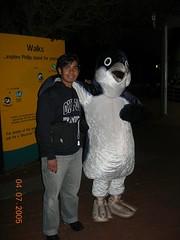 Bersama Maskot Penguin, Penguin Parade, Philip Island, Australia