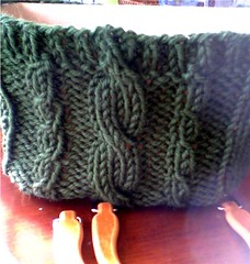 Chunky Cable Purse - Knitpicks.com - Sierra