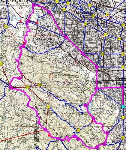 45 mile route