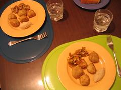 Falafel y hummus