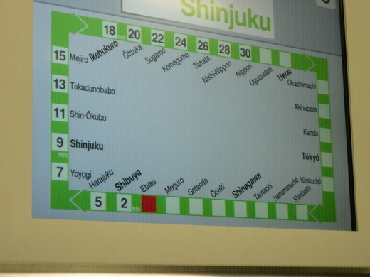 Yamanote's line map and schedule