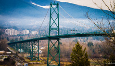 Vancouver Jan 14 - Lions Gate Bridge photo by Ted's photos - for me and you - away until mid May