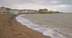 Aberystwyth and the sea. Looking towards the Royal pier. photo by Minoltakid