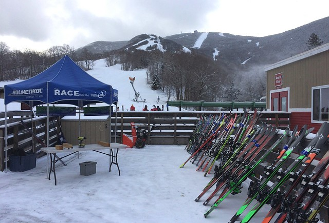"""2/26/17 We picked up 1-2"""" of new snow this morning and Sport Thoma is on site with their demo fleet!"""