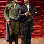 Sean Fortunato and Allen Gilmore in ROSENCRANTZ AND GUILDENSTERN  ARE DEAD at Writers Theatre. Photos by Michael Brosilow.