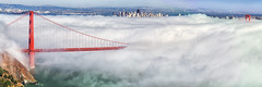 Golden Gate Bridge : San Francisco City and Fog photo by KP Tripathi