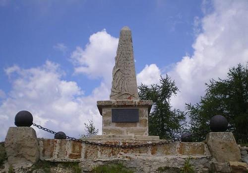 2000-  Stèle et plaque à  l'Authion - col. Bernard Frizza