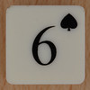 Playing Card Tile 6 of Spades