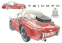 Triumph 1959 photo by gerard michel