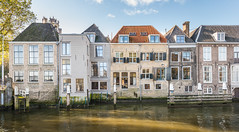 Canal houses in the Dutch city of Dordrecht photo by RuudMorijn