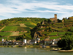 Kaub and Castle Gutenfels on the Rhine, Germany photo by Batikart