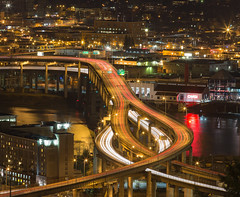 Marquam at Night in Color photo by prose729