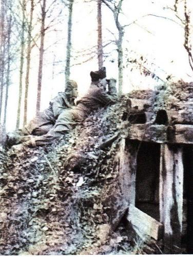 1945- Alsace- sur les bords du Rhin - Renault BM 4 Source  20 ans en 1940 de Henri Beauge