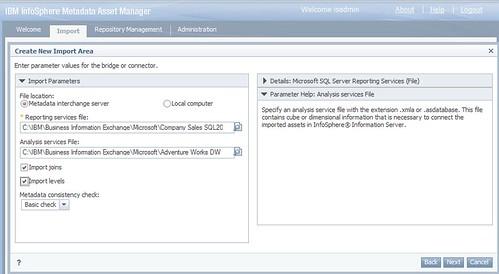 Choosing a file in the SSRS metadata bridge