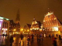 Town Hall Square in Old Town of Riga, Latvia. November 11, 2013 photo by Vadiroma